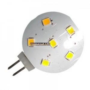 LED žárovka 1W 6x2835 G4 100lm TEPLÁ BÍLÁ 12V DC